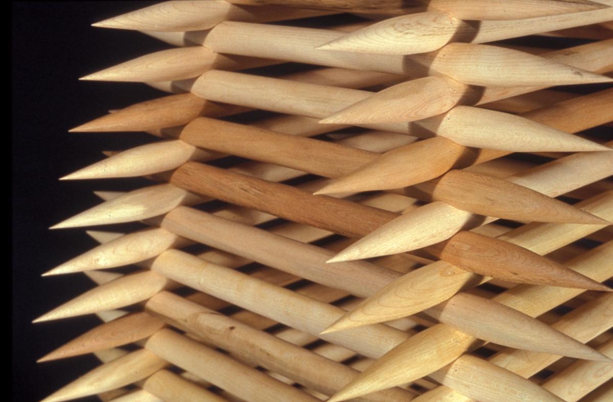oeuvre en bois pointe affutée