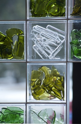 public art in glass for a library