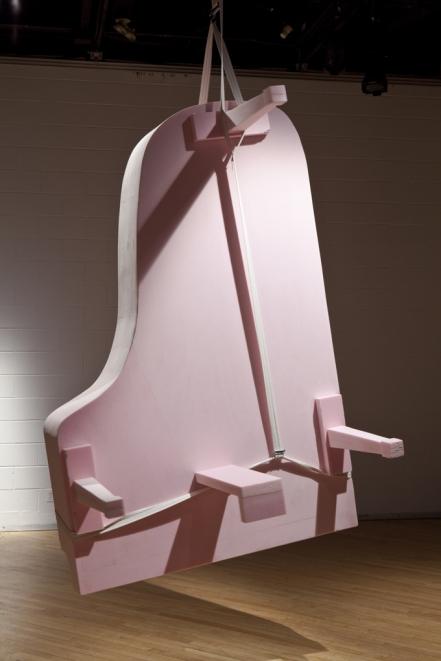 piano styrofoam art installation