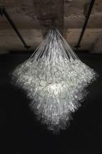 broken glass chandelier
