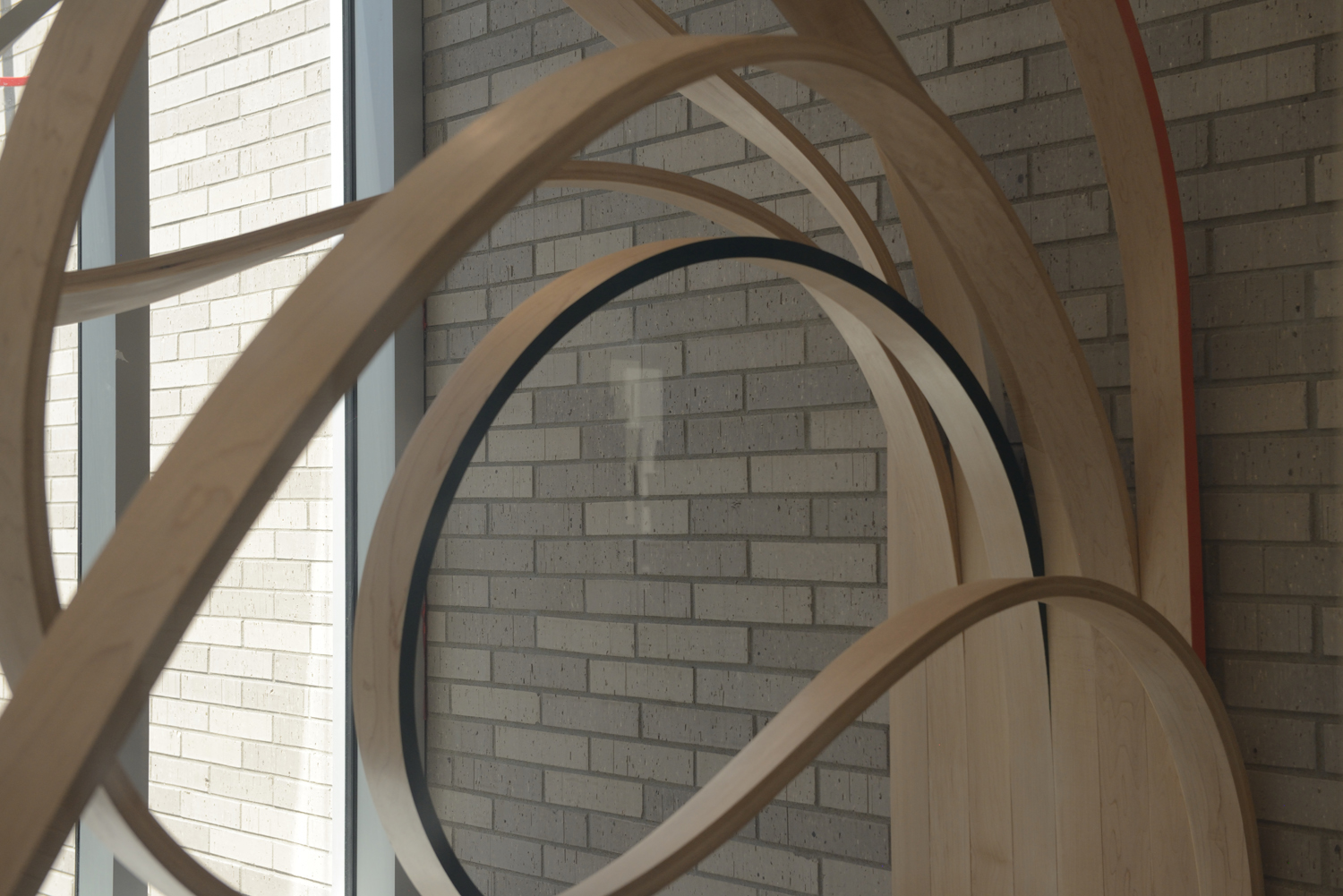 public art in wood for a shcool in Montral